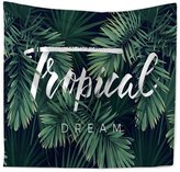 LN Green Forest Tpestry Wll Hnging Home Decor Bech Throw