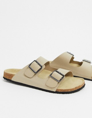 ASOS DESIGN sandals in stone