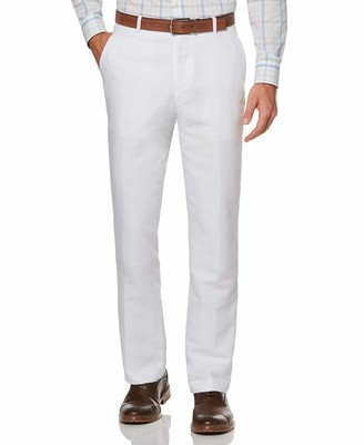 Perry Ellis Men's Big and Tall Standard Linen Suit Pant