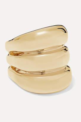 Jennifer Fisher Triple Tube Gold-plated Ring