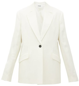 Jil Sander Single-breasted Crepe Jacket - Womens - Ivory
