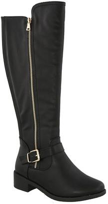 Top Moda Women's Casual boots BLACK - Black Sleek Stretch Winston Boot - Women