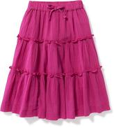 Old Navy Tiered Gauze Midi Skirt for Toddler Girls