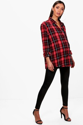 boohoo Maternity flannel Oversized Shirt