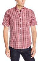 Dockers Short Sleeve Framed Gingham Cvc Woven Shirt