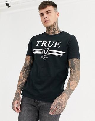 True Religion logo t-shirt in black