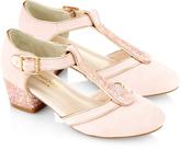 Monsoon Pink Diamond T-Bar Charleston Shoes