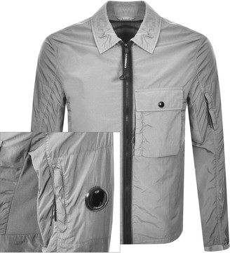 C.P. Company Long Sleeved Full Zip Overshirt Grey