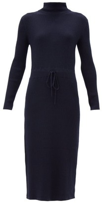 A.P.C. Alma Roll-neck Merino-wool Knitted Dress - Navy