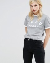 Fred Perry Archive Ringer T Shirt With Embroidered Logo