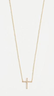 Jennifer Meyer Thin Cross Necklace
