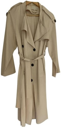 Vanessa Bruno Beige Silk Trench Coat for Women