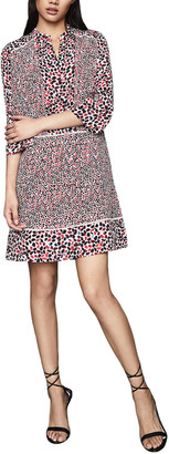 Reiss Anush Border Print Dress