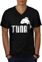 Tuna Novelty Parody Men NEW XL V-Neck T-shirt   Wellcoda