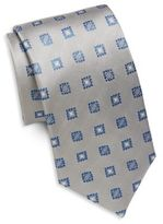 Saint Laurent Embroidered Silk Tie