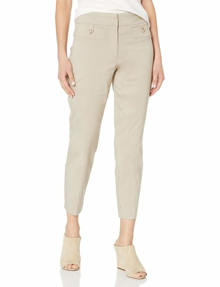 Briggs New York Women's Superstretch Fly Front Ankle Pant with Tab Pockets