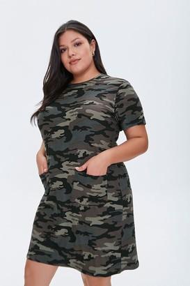 Forever 21 Plus Size Camo T-Shirt Dress
