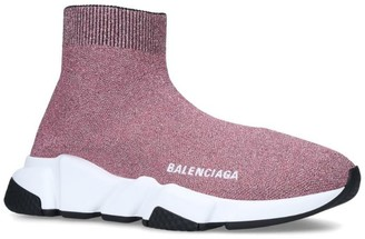 Balenciaga Knit Speed Mid-Top Sneakers
