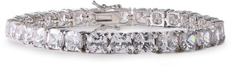 Kenneth Jay Lane Cz By Rhodium-plated Crystal Bracelet