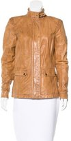 Belstaff Leather Distressed Jacket