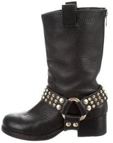 Zadig & Voltaire Leather Moto Boots