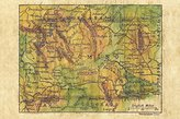 141 Wyoming 1906 vintage historic antique map poster print