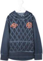 Diesel geometric pattern hooded sweatshirt