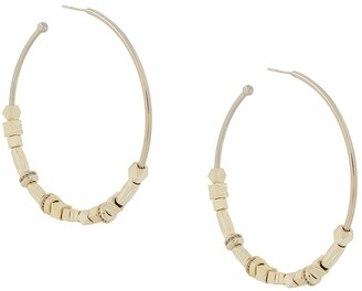 Iosselliani Be Nomad reversible hoop earrings