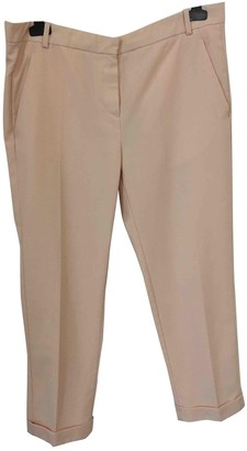 Carven Pink Wool Trousers for Women