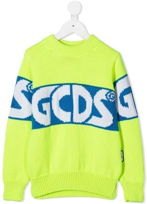 Gcds Kids Colour-Block Logo Jumper