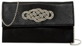 Jessica McClintock Gretta Beaded Knot Faux Leather Clutch