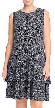 MICHAEL Michael Kors Printed Tiered Hem Dress