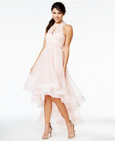 Say Yes to the Prom Juniors' Embellished High-Low Halter Dress, A Macy's Exclusive
