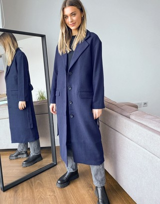 Levi's frida longline coat in navy