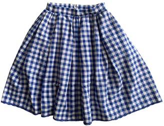Erotokritos Blue Cotton Skirt for Women