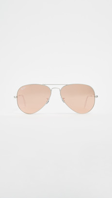 Ray-Ban RB3025 Classic Aviator Flash Matte Sunglasses