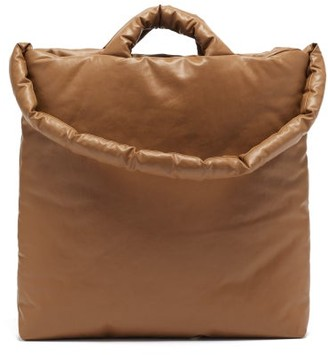 Kassl Editions Oil Medium Padded Cotton-blend Canvas Tote - Camel