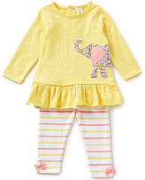 Starting Out Baby Girls 12-24 Months Elephant-Appliqued Tunic & Striped Leggings Set