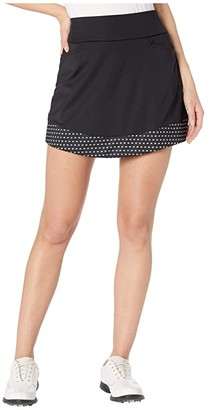 adidas Ultimate365 Printed Knit Skort (Black) Women's Skort