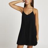 Thumbnail for your product : River Island Womens Black pleated sleeveless mini slip dress