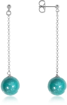 Antica Murrina Veneziana Perleadi Turquoise Murano Glass Bead Earrings