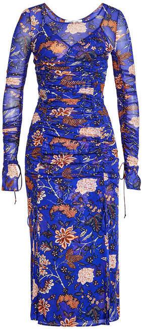 Diane von Furstenberg Sheer Printed Dress