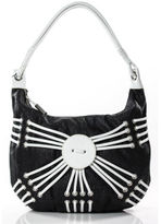 Bodhi NWT BLack White Leather Embellished Shoulder Bag