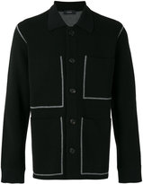 Joseph patch pocket cardigan - men - Polyester/Spandex/Elastane/Viscose/Wool - S