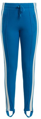 Etoile Isabel Marant Doriann Stripe-trimmed Track Pants - Blue