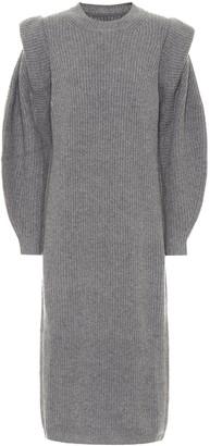 Isabel Marant Bea wool and cashmere midi dress