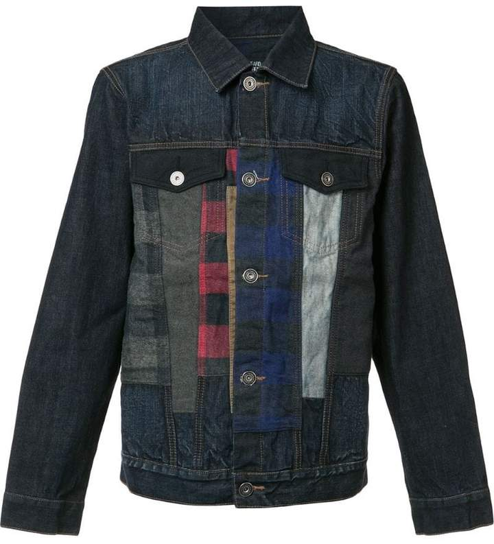 Mostly Heard Rarely Seen checked detailing denim jacket