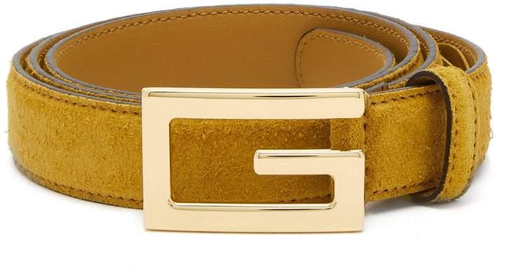 Gucci Logo-buckle suede belt