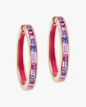 Jane Taylor Millinery Limited Edition Baguette Gemstone Hoop Earrings