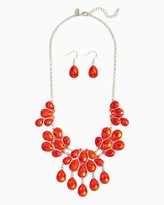 Charming charlie Pear Cluster Shape Necklace Set